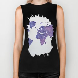 Purple World Map 02 Biker Tank