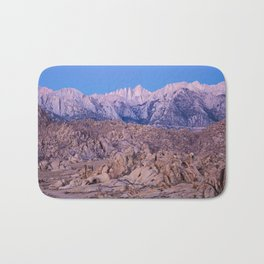 Mount Whitney /view from Movie Flats, Lone Pine, CA. Bath Mat