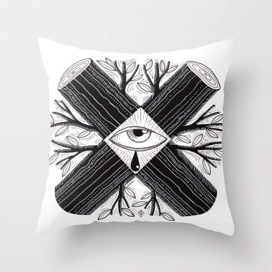 The truth is somewhere in the middle Throw Pillow