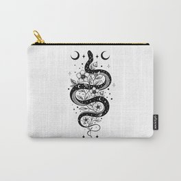 Serpent Spell -Black and White Carry-All Pouch