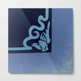 """Art Stucco"" Blue Left Metal Print"