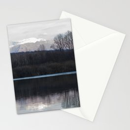 A lake in the mountains Stationery Cards