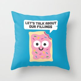 Tart Therapy Throw Pillow