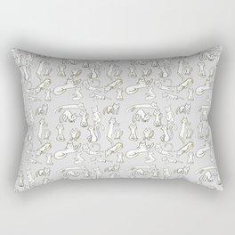 Kitten Love - Grey Rectangular Pillow