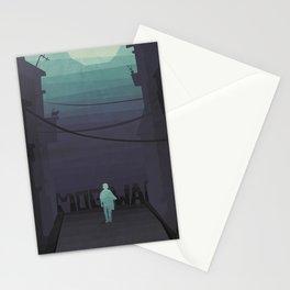 Night walk with Mogwai Stationery Cards