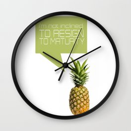 psych tv show... im not inclined to resign to maturity Wall Clock