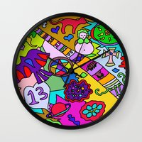 religion Wall Clocks featuring Science Verses Religion by Linda Tomei
