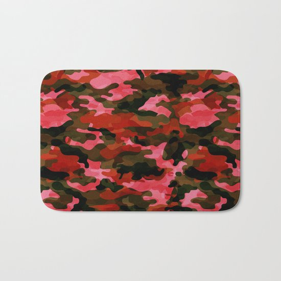 Camouflage (Red) Bath Mat