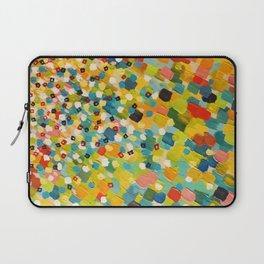 SWEPT AWAY 3 - Fresh Green Colorful Rainbow Ocean Waves Mermaid Splash Abstract Acrylic Painting Laptop Sleeve