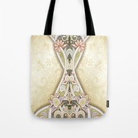 vintage floral Tote Bags featuring Vintage Floral by Robin Curtiss