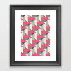 Herringbone geometric Framed Art Print