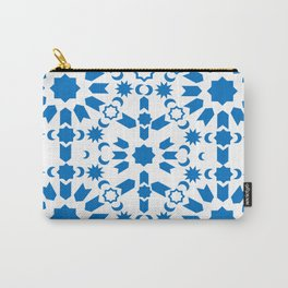 Blue Arabesque Carry-All Pouch