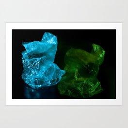 Recycling Plastic Art Print