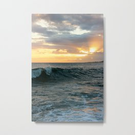 Poipu Waves Metal Print