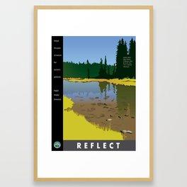 Reflect - Junction Lake Framed Art Print
