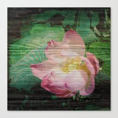Lotus Woodblock Canvas Print