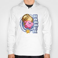 kirby Hoodies featuring Kirby Hammer by likelikes