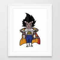 vegeta Framed Art Prints featuring Cat Vegeta by Ricardo Melara