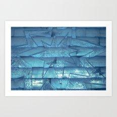 Ice Star Sculpture Art Print