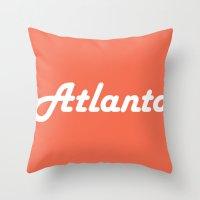 atlanta Throw Pillows featuring Atlanta by AE Interiors