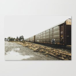 Rolled into the station Canvas Print