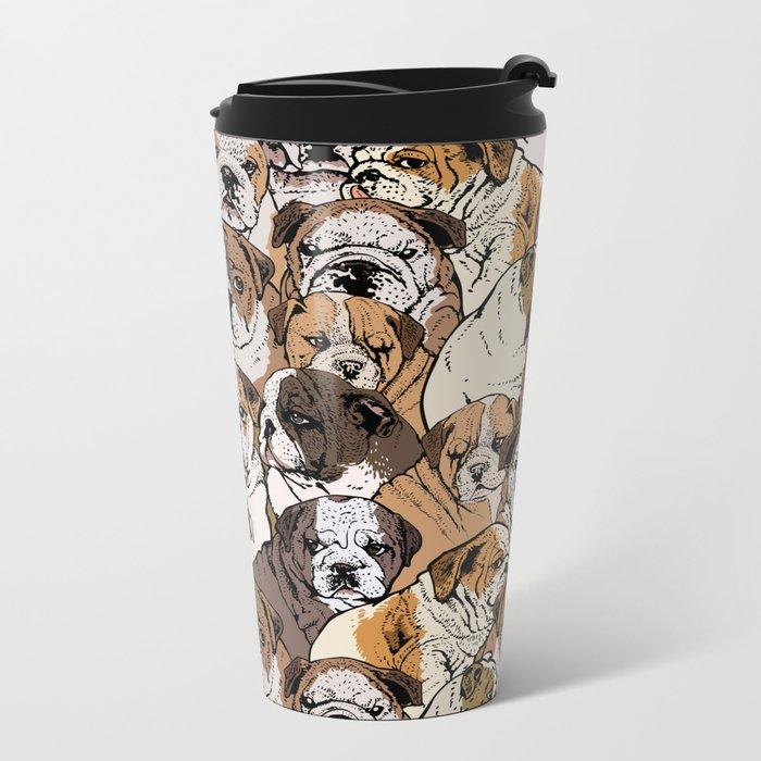 Social English Bulldog Travel Mug