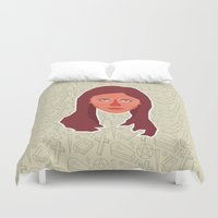 buffy the vampire slayer Duvet Covers featuring Buffy Summers - Buffy the Vampire Slayer by Kuki