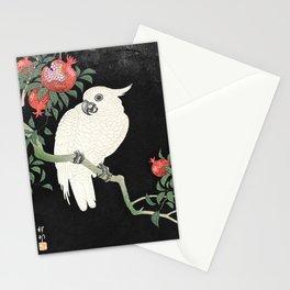 Cockatoo and Pomegranate by Ohara Koson (1877-1945) Stationery Cards