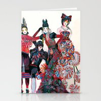 girls Stationery Cards featuring Girls by Felicia Atanasiu