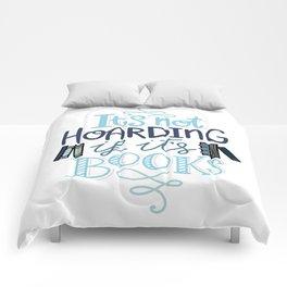 Hoarding Books Blue - Book Nerd Comforters