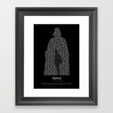 Father, in all Languages Framed Art Print