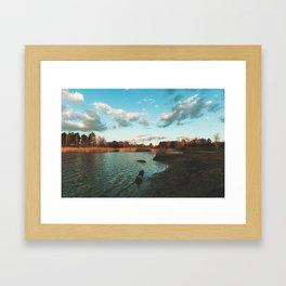 Beautiful lake day Framed Art Print