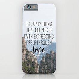 Galatians 5:6 iPhone Case