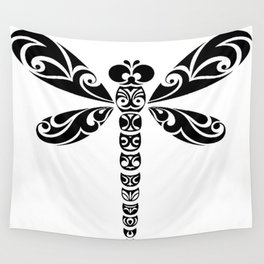 Tribal Dragonfly Tattoo Wall Tapestry