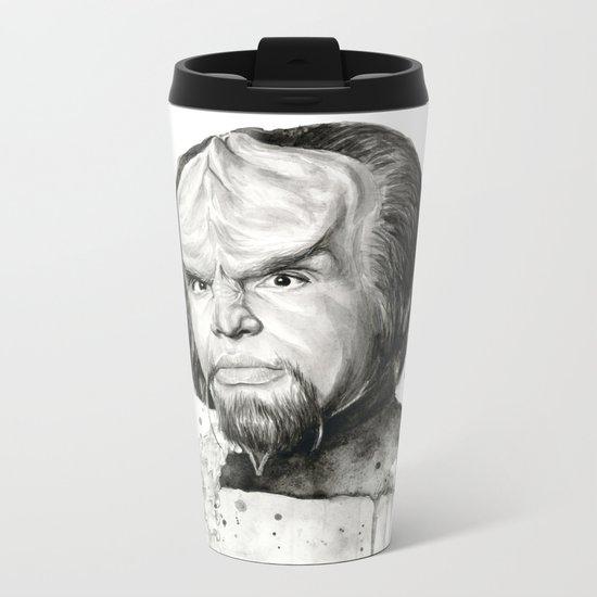 Star Trek: Worf Metal Travel Mug