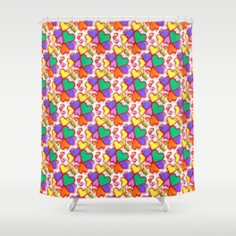 Color Hearts Shower Curtain