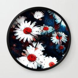 Abstract Daisies Wall Clock