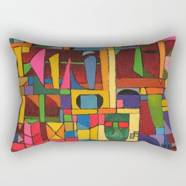 Colors In Collision 1 - Geometric Abstract of Colors that Clash Rectangular Pillow