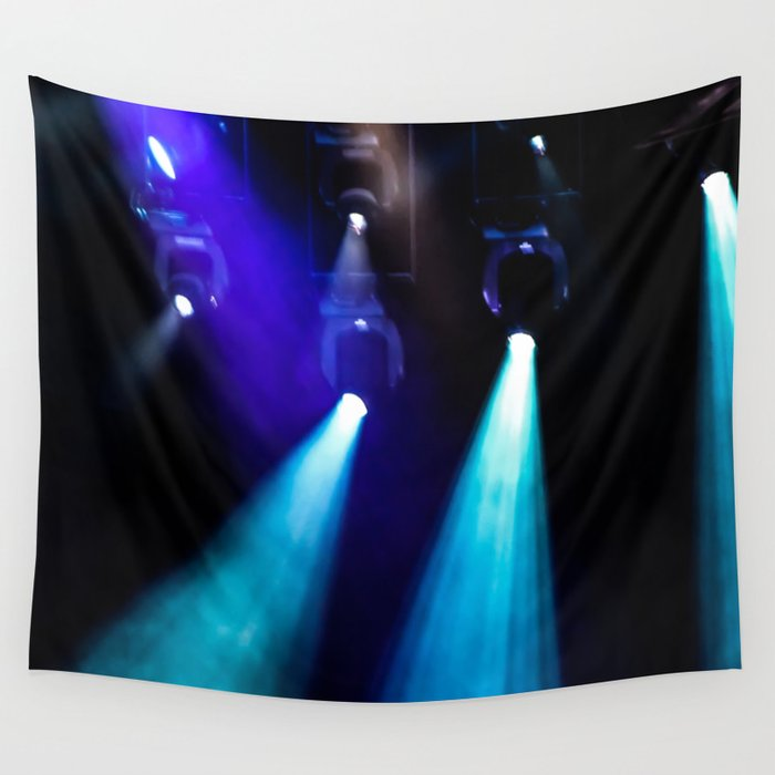 Blue Lights Wall Tapestry
