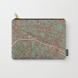 Paris city map pop Carry-All Pouch