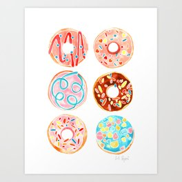 DONUT TREAT in dreamy pastels Art Print