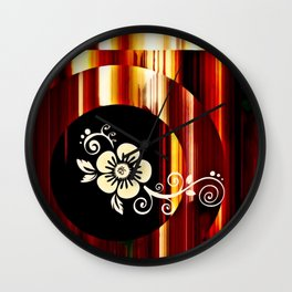 Floral Accent Wall Clock