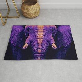 Purple Elephant Rug