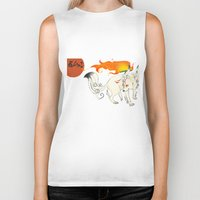 okami Biker Tanks featuring Okami! by Caroline.Sweet