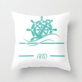 sailor gift sailing ship sailor Ahoi Seefahrt Throw Pillow