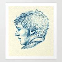 benedict cumberbatch Art Prints featuring Benedict Cumberbatch  by Renee Carranza