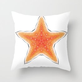 Fishtales: Starfish 8 Throw Pillow