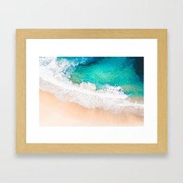 Bronte Beach Breaks Framed Art Print