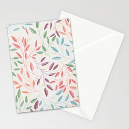 Pastel Floral Print Stationery Cards