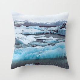 Jökulsárlón Glacier Lagoon, Iceland Throw Pillow